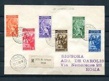 1935.VATICANO.YVERT 66/71(o).CARTA CIRCULADA CON LA SERIE FULL