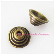 12Pcs Antiqued Bronze Tone Cone End Bead Caps Connectors 10mm