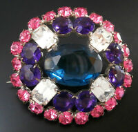 Czech VINTAGE 1950's Rhinestone Pin Brooch #T154 - UNIQUE!!!!