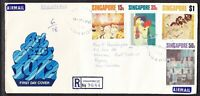 Singapore 1972 Art  R9644 First Day Cover addressed to PNG