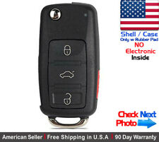 1x New Replacement Remote Key Fob Flip Case For Volkswagen - Shell Only