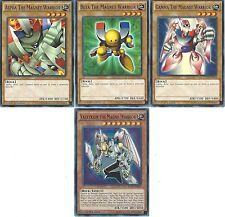 Yugioh Valkyrion The Magnet Warrior + Alpha + Beta + Gamma - YGLD Set - NM