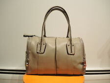 B. MAKOWSKY WHITNEY Beige E/W Genuine Leather Satchel was $358