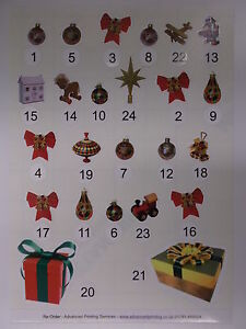 Stickers For Chocolate Free Advent Calendar Traditional Christmas (119)