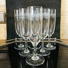 Baccarat France Crystal Gläser Sevigne 6 Sektflöten Flûtes Champagner