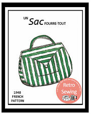 1940s Handbag French Vintage Sewing Pattern
