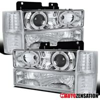 For 94-98 Chevy Tahoe Suburban Clear Projector Headlights+Corner+Bumper Lamps