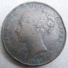 Monnaie du Royaume-Uni—Victoria jeune—1 penny—1844