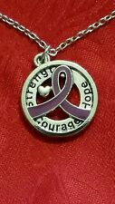 """18"""" ALL CANCER AWARENESS ALZHEIMER RIBBON HOPE COURAGE STRENGTH NECKLACE #2"""