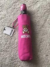 Moschino paraguas de Juguete/Peluche logotipo, Rosa