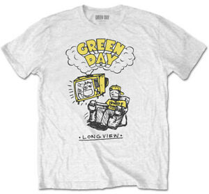 Green Day 'Longview Doodle' White T-Shirt  - NEW & OFFICIAL!
