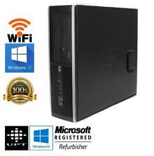 HP Business Class Windows 10 Intel Dual Core 3GHz 500GB DVD/RW WiFi 4GB Desktop