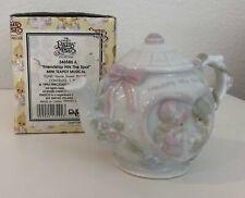 """1993 Precious Moments 346586A """"Friendship Hits the Spot"""" Mini Teapot Musical"""