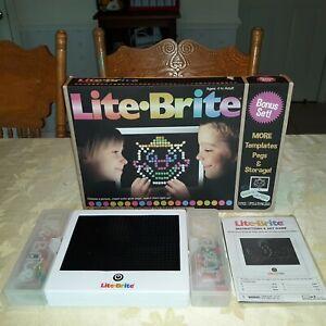 LITE BRITE Magic Screen Light Bright Bonus Set, New in Original Box