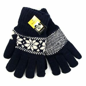 KNIT WINTER GLOVES w/LINING. FOR MEN AND WOMEN, New, Soft & Warm, Elastic cuff