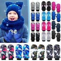 Toddler Kids Baby Boys Girls Ski Gloves Waterproof Winter Warm Snow Mittens Lot