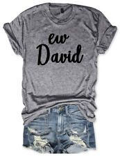 Unisex Short Sleeve Ew David Graphic Tee Dark Gray T-Shirt Casual Tee Tops Shirt