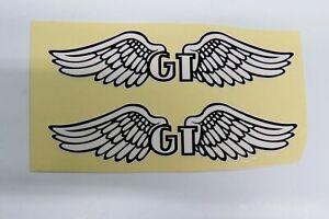 GT BMX Bike Decal Sticker Pair of Wings BMX  White & Black