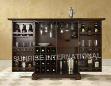 Contemporary Handmade Wooden folding Wine Bar  Cabinet rack !!
