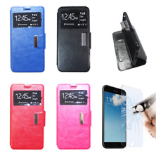 """Funda Tapa Libro Iman Ventana Para HTC One A9 (4G) 5"""" + Protector Opcional"""
