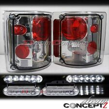 73-87 GMC Chevy C K C10 truck light smoke lens tail light w. front LED DRL light