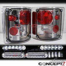 73-87 GMC Chevy C K C10 truck light smoke lens tail light w. front LED DRL light