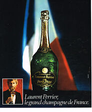 PUBLICITE ADVERTISING 064  1975  LAURENT PERRIER  champagne GRAND SIECLE