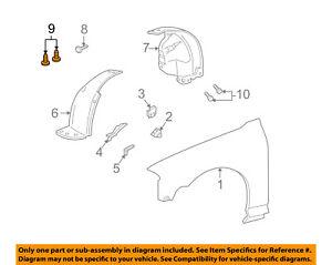 Lincoln FORD OEM 00-06 LS-Fender Liner Splash Shield Retainer N801603S437
