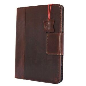 Genuine Real Leather case for Apple iPad Air 2 Hard Cover Stand Magnetic Retro