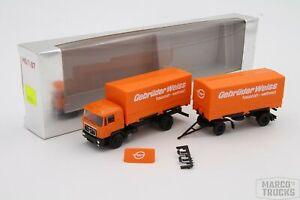 """Herpa MAN F90 Swap body trailer truck 2a/2a """"Gebrüder Weiss"""" /H841-1"""