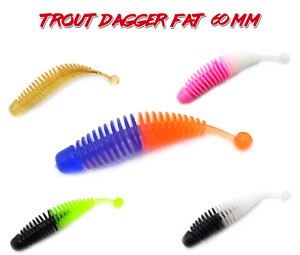 Trout Dagger 60mm, Forellenköder, Gumiiköder, Kustköder, Trout baits AKS Fishing