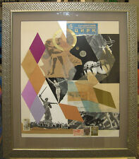 "Carolyn Howlett '74 Abstract Collage ""Russia Spectaculars"" Listed Chicago Artist"