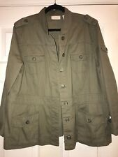 Womens Chicos Military Green Jacket Size 3