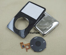 Black Front Faceplate Back Housing Case Clickwheel Flex for iPod 5th Video 60GB