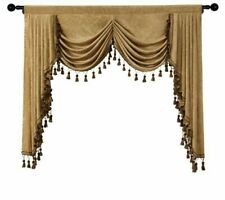 Window Curtain Valance Treatment Knitted Yarn Dyed Home Hanging Decor Pelmet New