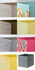 Ikea Drona storage boxes baskets holder for Expedit Kallax unit PATTERNED NEW