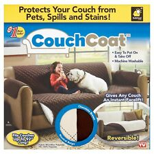 NEW - Couch Coat Reversible Microfiber Couch Cover by BulbHead As Seen On TV