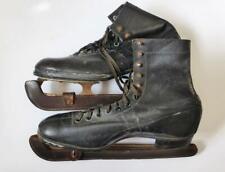 Antique Hudora German Leather Ice Skates, 1920's Era Men's Size 10.5 Skates