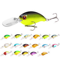 EG_ Crank 3D Eyes Fishing Lure Hard Bait Bass Crankbait Sharp Fish Hook Tackle G