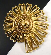 SIGNED MONET Vintage BROOCH Pin SNAIL SHELL Gold Tone
