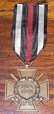 ORIGINAL GERMANY HINDENBURG 1914-1918 CROSS HONOR COMBATANT WW1 MEDAL 45 MARKED
