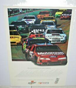 NASCAR 1995 SCHEDULE MOTORCRAFT KODIAK GATORADE FULL COLOR POSTER 20 X 24