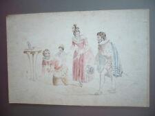 DESSIN ORIGINAL 1890 ENFANT JEUX  THEATRE