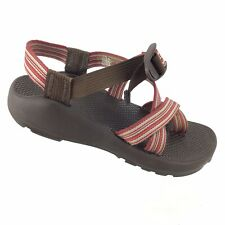 Chaco Z2 Classic Sport Athletic Sandal Brown Red Stripped Women's 6 R8S3