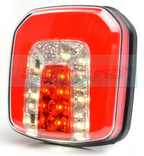 WAS W146 NEON LED REAR SQUARE COMBINED TAIL, FOG AND REVERSE LAMP LIGHT TRAILER