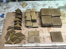 Lot Of 116 A. E. Tile Co. Antique Fireplace Brown 2� x 2� 4� x 4�