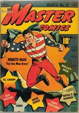Master Comics #12 Photocopy Comic Book, Minute-Man, Bulletman