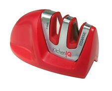 Kitchen IQ Edge Grip 2 Stage Knife Sharpener Red Coarse/Fine Ultimate Sharpening