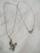 Vintage Sterling Necklace Eagle Flying Fish in Talons (SH)