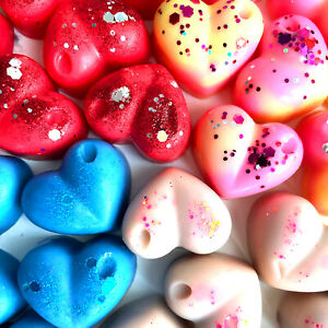 SOY WAX MELT HEARTS x6 FOR OIL BURNER MANY FRAGRANCES HIGHLY SCENTED INSPIRED